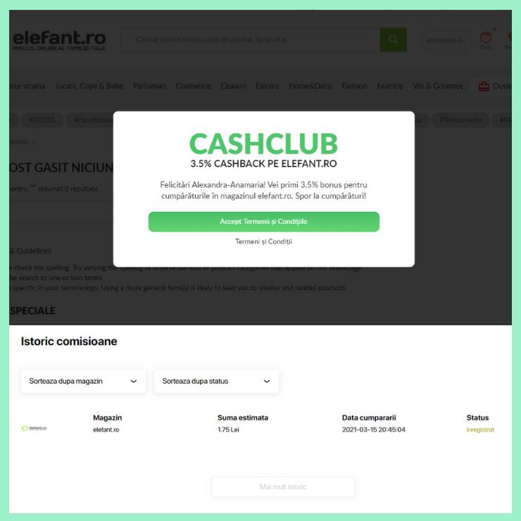 cashback comisioane cashclub